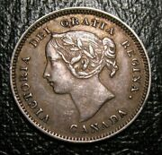 Old Canadian Coins 1900 Canada Silver Highgrade Five Cents 5 C