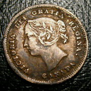 Old Canadian Coins Rare Choice Toned 1882 Canada Five Cents Beauty 5 C