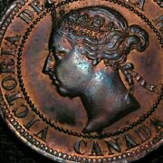 Old Canadian Coins 1891 Unc Canadian Large Cent Canada Highgrade Sharp