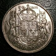 Old Canadian Coins 1950 Canada 50 Cents No Design