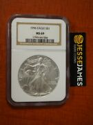 1996 1 American Silver Eagle Ngc Ms69 Classic Brown Label