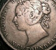 Old Canadian Coins Silver Newfoundland 1874 Canada Fifty Cents