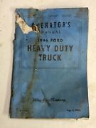 Vintage 1946 Heavy Duty Ford Motor Company Truck Operators Manual Booklet Guide