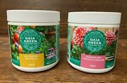 Gaia Green Power Bloom 2-8-4 And All Purpose Fertilizer 4-4-4 In 500g Jars