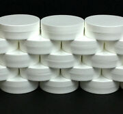 White Plastic Cosmetic Containers Low Profile Wide Mouth Jars Lids 1oz 250 9352