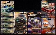 Lot Of 10 Hot Wheels Car Culture Cargo Carriersopen Track Gulf Fastandfurious +