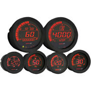 Koso Hd-02 Six Piece Gauge Kit Black For And03904-and03913 H-d Flht/flhx/fltr Ba050907