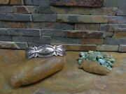 Rare Model Navajo Whirling Log Arrow Cuff Sterling Native Old Pawn Era Harvey