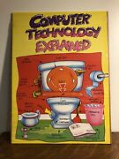 Vintage 90's Funny Humor Spoof Computer Technology Poster Sign