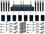 Vocopro Udh-8-ultra Church Choir Mix And Match 24 Mic Wireless Rackmount System