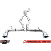 Awe 2020 Toyota Supra A90 Track Edition Exhaust - 5in Chrome Silver Tips 3015-3