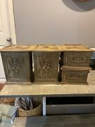 Vintage Kitchen Canister Set 4 Pc Brentwood Collection Wood Look Plastic