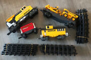 1992 Toy State Cat Caterpillar Construction Express Train Set And Track