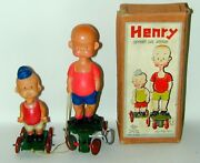 Henry And His Brother Celluloid Wind-up Toy In Orig. Box Japan Circa 1934