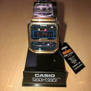 Casio Pac-man Collaboration Watch Gold And Black A100wepc-1bjr Limited Collection