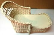 Classic Wicker Lounge For 18 Inch Size Doll - E.g. American Bear Girl Compatible