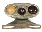 Vintage Early Packard Combo Stop Tail Lamp Tag Light Auto Automobile Big Car Old