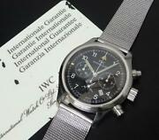 Freeger Chronograph Iw374101 Black Dial Warranty Cards, Booklets, Tags