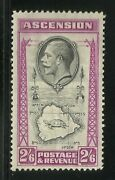 Ascension Island - George V 2/6 Stamp - Lmm - From Old Collection