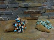Best Huge Zuni Knifewing Kachina Turquoise Sterling Brooch Pin Native Old Pawn