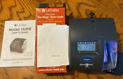Lathem 1600e Atomic Time Recorder Punch Clock Time Cards And Expanding Rack No Key