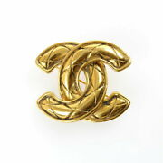 Pole Coco Mark Vintage Brooch Gold P2156 Previously Owned No.4300