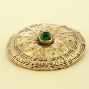 Vintage Brooch Gold Roh Free Shipping No.4278