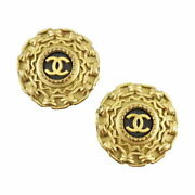 Vintage Earrings Coco Gold 94a Women And039s Popularity No.4618