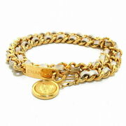 Belt Chain Belts Coins Gold Ivory Metal Material Razor No.5672