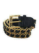 Belt Leather Blk Clothing And Miscellaneous Goods Etc. No.5692