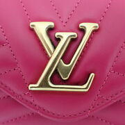 Louis Vuitton Wave Long Wallet M63820 Smooth Scarf Leather Pink System No.6996