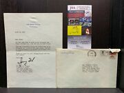 Gerald R. Ford Autograph Jsa Certified Signed Presidential Letter W/ Seal And Env