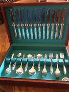Pan American Airlines Silverware,service For 12 International Silver Co.