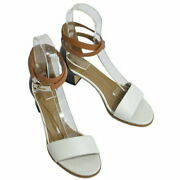 Hermes Kelly Metal Fittings Strappy Sandals R2-199871 Previously Owned No.6423