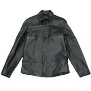 Louis Vuitton Calf Black Mens Leather Jacket From Japan Fedex No.6593