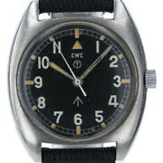 Cwc British Military Watch 523-8290 Self-winding Black Dial 3-needle Menand039s Watch