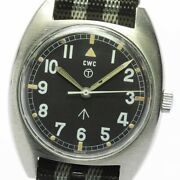 Cwc Broad Arrow British Military Watch Cal.2750 W10-6645-99 Manual Winding Menand039s