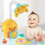 Sotodik Baby Bath Toys Electric Duck Water Pump With Hand Shower Sprinkler For K