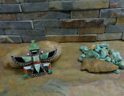 Sale. Huge Zuni Knifewing Kachina Turquoise Sterling Brooch Pin Native Old Pawn