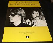 Hall And Oates Why Do Lovers Break Each Other's Hearts Original 1977 Sheet Music