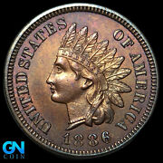 1886 Type 1 Indian Head Cent Penny -- Make Us An Offer K8884