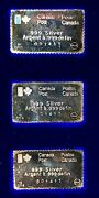 Set Of 3 1976 Montreal Olympics Silver Stamp Bars16g Ea Toned In Original Case