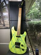 Peavey Tracer Ii 1989 - Green Splatter 80andrsquos Retro-cool Electric Guitar Axe
