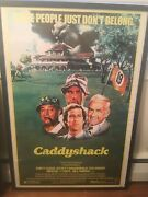 Caddyshack Signed Movie Poster 8 Sigs Coa Autographed W/ Dangerfield And Knight