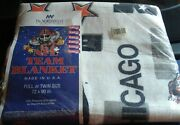 Chicago Bears Heavy 72 X 90 Full Or Twin Vintage Blanket Nfl The Northwest New