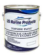 Safety Yellow Enamel Topside Paint Gallon By Us Marine Products New