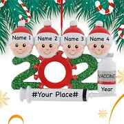 2021 Personalized Family Ornament, 2021 Vaccine Mask Christmas Tree Ornaments