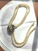 Coppola E Toppo Signed Made In Italy Faux Pearl And Crystal Necklace Cera Book