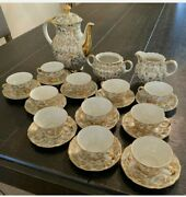Lot Of 27 Pieces Bavaria Gold China Tea Set Holiday Berries Pre-owned Excellent