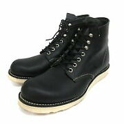 Used Red Wing Redwing Usa Made 8165 Classic Plain Toe Boots 27cm Black 210907e